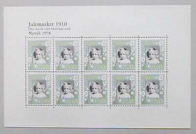 Denmark CHRISTMAS STAMP Reprint 1978 with 1910 stamps High CV