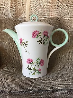 "Shelley Regent Shape ""Pink Rose "" Pattern Coffee Pot."