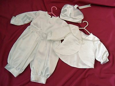 Vintage Style Baby Boy Christening Suit Jacket and Hat   Age 6 to 12 Months