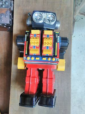 Rare vintage Rotate-o-matic Super Robot Horikawa Made in Japan 1960's battery