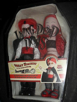 Poupées LIVING DEAD DOLL dolls The Great Zombini and Viv Exclusive NEUVES in box