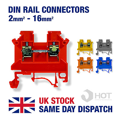 Din Rail Threaded Connectors / Universal Terminal Block 2.5mm 4mm 6mm 10mm 16mm