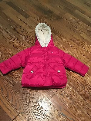 Old Navy Pink Girl Size 12-18 Months Puffer Coat Jacket Winter