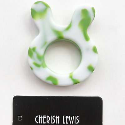 CHERISH LEWIS EXCLUSIVE Silicone Teether Baby bunny TEETHING Toy Shower Gift