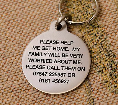 Pet dog ID tag disc. Stainless Steel name Tags - FREE ENGRAVING - FREE DELIVERY