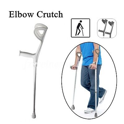 2x Walking Aid Adjustable Compact Forearm Arm Cuff Medical Stabilising Crutches
