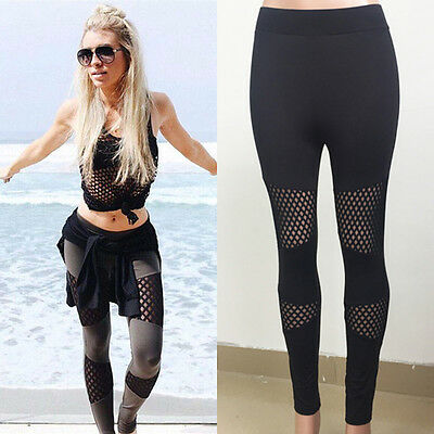Ladies Sports Gym Yoga Workout Running Pants Fitness Stretchy Leggings Trousers