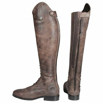 Horka Adults Synthetic Leather Hester Silver Stones Rubber Sole Riding Boots