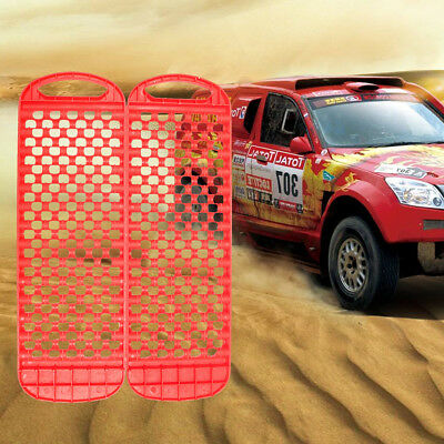 2Pcs Durable Car Sand Track Recovery Snow Grass Off Road Emergency Tyre Ladder