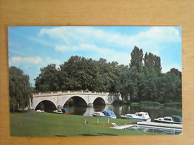 Old Postcard Of The Bridge And River Thames, Shillingford