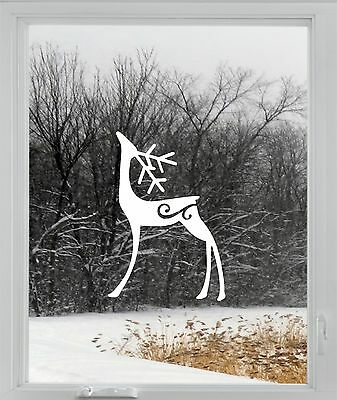 Christmas Reindeer Rudolph Wall Window Sticker Vinyl Decal Decoration  XMAS RN2