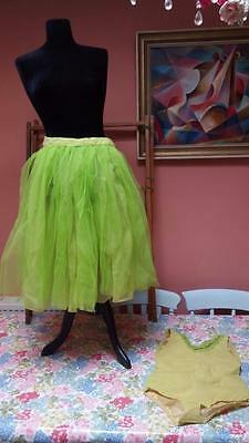 VINTAGE 1950's BALLET SKIRT LEOTARD TUTU FAIRY COSTUME GIRLS SHABBY CHIC GIRLS