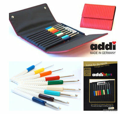 addi Color Coded Crochet Hooks 2-6mm Set of 9 ~FREE SHIPPING~ #648-7