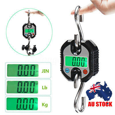 AU Portable 150kg/330Lb LCD Digital Electronic Weight Hook Hanging Crane Scale