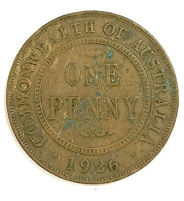 1926 Australian Australia 1 One Penny World Collectors Coin