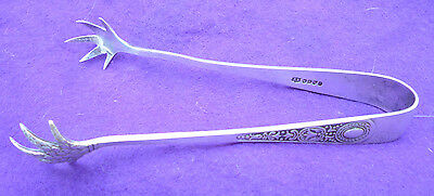 Silver Plated Sugar Tongs By Jonathan Bell Of Sheffield