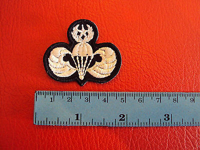 US ARMY WHITE MASTER AIRBORNE PARACHUTIST MILITARY Wing Patch THAILAND MADE