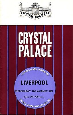 CRYSTAL PALACE v LIVERPOOL 1969/70 DIVISION 1 (+ NEWSPAPER REPORT)