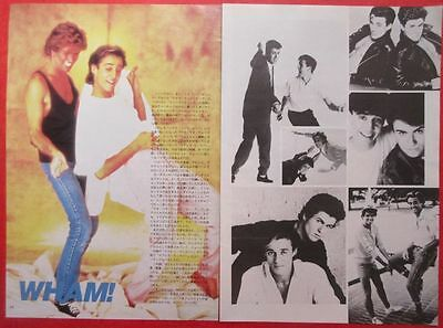 Wham! George Michael Andrew Ridgeley 1985 Clipping Japan Magazine Cutting Spr 2P