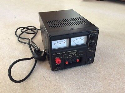 Manson Variable Bench Power Supply EP-603 - 0-30V @ 2.5A + 5/12V @ 500mA