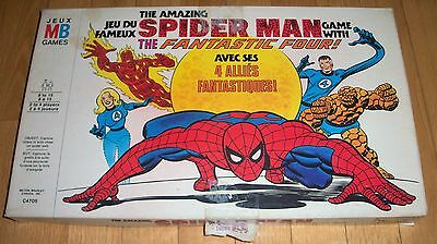 VTG The Amazing Spider Man Game With The Fantastic Four MB 1977 Complete Board