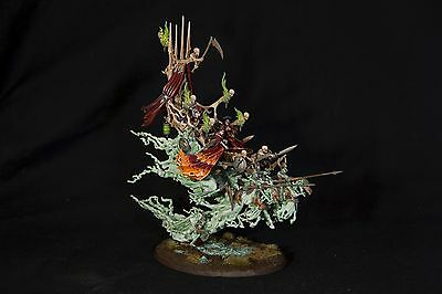 WARHAMMER AGE OF SIGMAR VAMPIRE COUNTS COVEN THRONE PAINTED - Dipinto