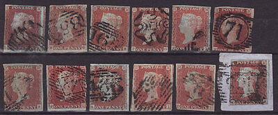 GB QV STOCKCARD OF 1d IMPERFS UNCHECKED