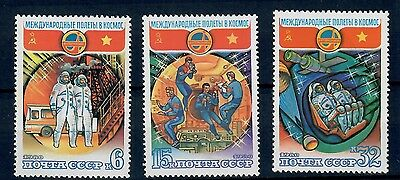 (W1007) Russia (Ussr), 1980, Space, Mi 4978/80, Set, Mnh/um, See Scan