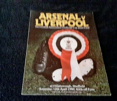 Programme Fa Cup Final Semi-Final Arsenal V Liverpool 1979-80
