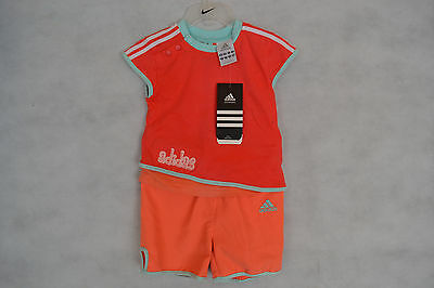 Adidas Baby Girls Tee Shirt And Shorts Set BNWT
