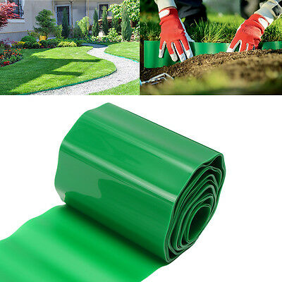 9m Plastic Flexible Garden Grass Fence Path Lawn Edging Green Edge Gravel Border