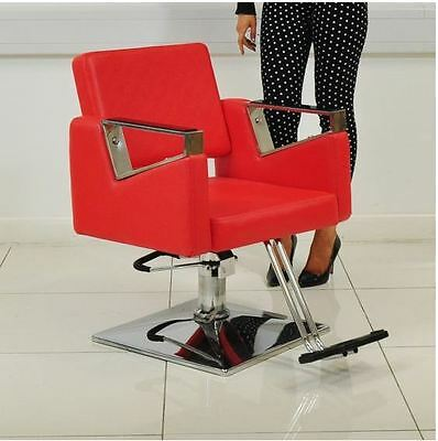 Swivel Hair Styling Chair - Red