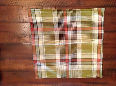 NWOT Pottery Barn Holiday TAHOE PLAID Pillow Cover 24 x 24 Christmas