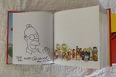 Simpsons World MATT GROENING SIGNED and SKETCHED HOMER Episode Guide 1-20