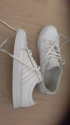 Mens white adidas trainers size 9
