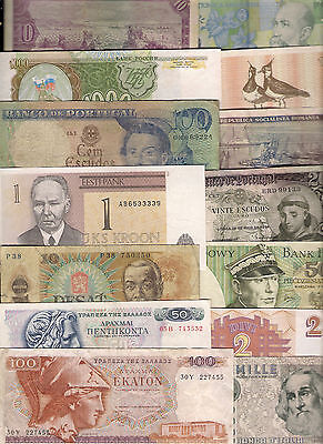 World Countries Paper Banknotes Used Some Creased Folded Or Marked