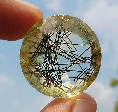53.8 Cts A++ Attractive Golden Doublete Rutile  Cabochon Loose Gemstone