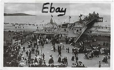 Early (1908) RP post card of The Grand Pier, Weston-Super-Mare, Somerset