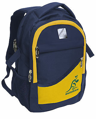 Rugby Union Australia Wallabies Supporter Sports Gym Backpack Back Pack Bag!