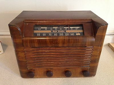 Antique RCA Victor AM/SW Wood Box Art Deco Table Tube Radio Model 28X