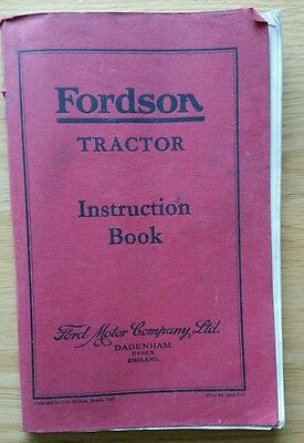 Fordson Tractor Operators Manual 1937