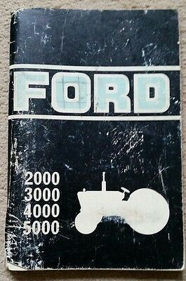 Ford 2000 3000 4000 5000 Tractor Operators Manual 1975