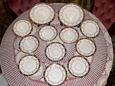 Vintage Antique * Victorian / Edwardian * 12 Matching China Plates *