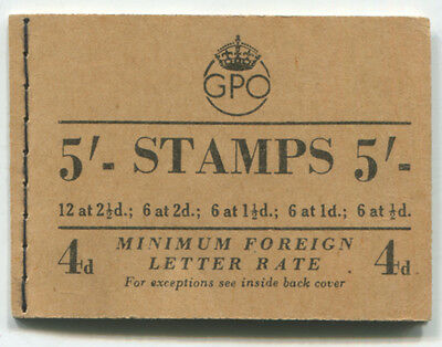 STAMP BOOKLET 1953 (May) 5s Composite (panes inverted) . . . .