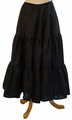 Steampunk-Victorian-Edwardian-Cosplay-LONG TIERED COTTON PETTICOAT All Sizes