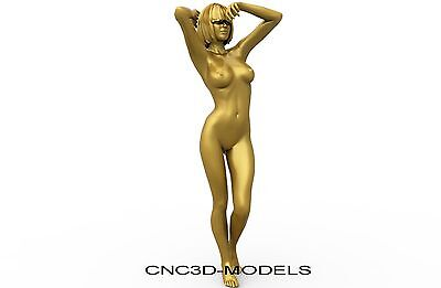3D STL MODEL for CNC Router Engraver Carving Artcam Aspire Women Girl Naked 8205