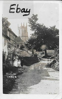 Original (1917) RP post card of Imber Village, Wiltshire (now occupied by Army)