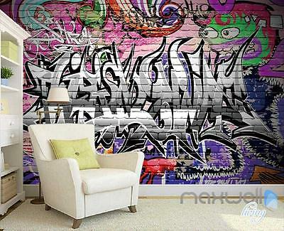 3D Graffiti Letters Monster Wall Mural Paper Art Print Decals Decor Wallpaper