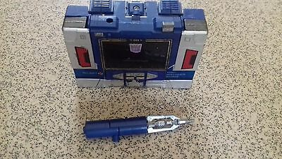 Transformers G1 Soundswave with gun and missile  rocket