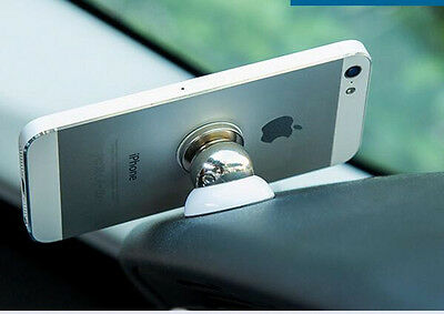 Universal 360 Degree Magnetic Mobile Phone Car Dash Holder Stand Mount white